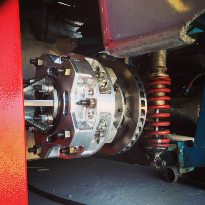 More hub adapters - this setup was built by Bicknell for us at Onpoint so that we can dyno Wide-5 vehicles!
