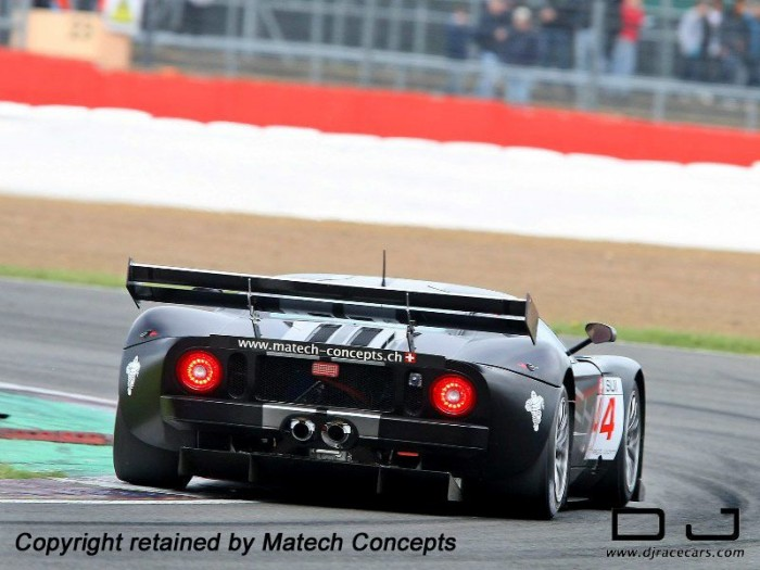 DJ Racecars wing mounted on an LMS Ford GT
