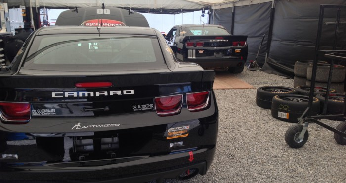 Laptimizer has become famous, thanks to Kirk and the CKS team putting stickers on the Grand-Am GS Camaros