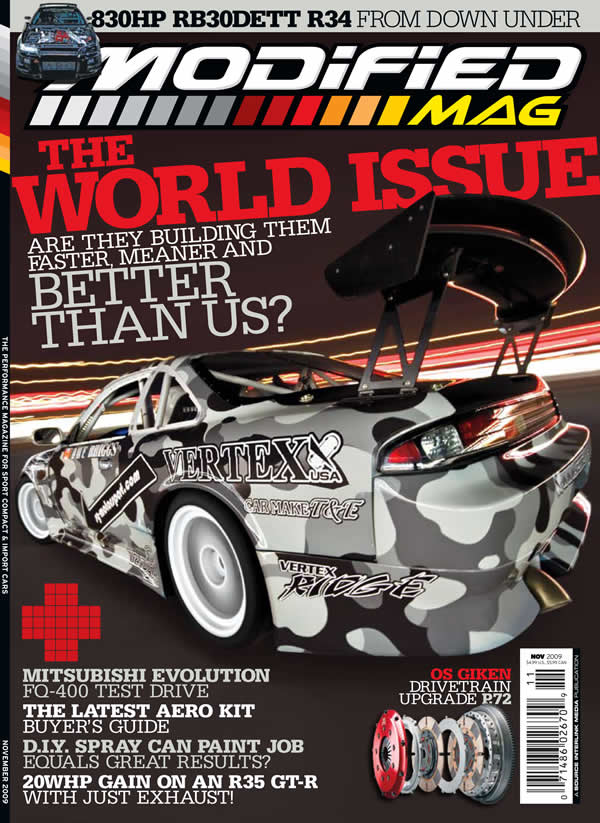 Modified Magazine – S14 Drift Car Cover